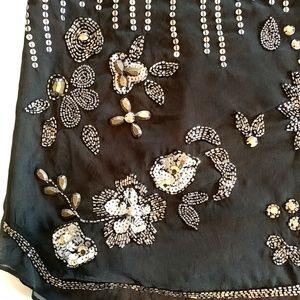 Romeo & Juliet Couture Tops - Romeo & Juliet Couture Large Tank Top Black Silver